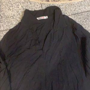 JustFab black rayon shirt dress w/side slits, L